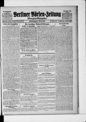 Berliner Börsen-Zeitung vom 12.06.1921