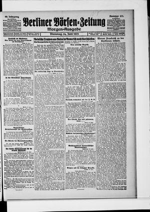 Berliner Börsen-Zeitung vom 14.06.1921