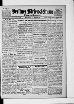 Berliner Börsen-Zeitung vom 15.06.1921