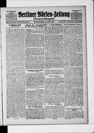 Berliner Börsen-Zeitung vom 16.06.1921