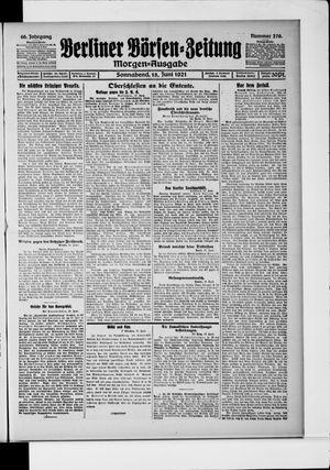Berliner Börsen-Zeitung vom 18.06.1921