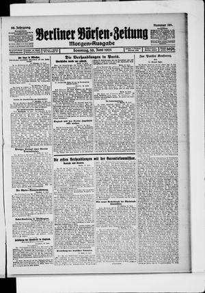 Berliner Börsen-Zeitung vom 19.06.1921