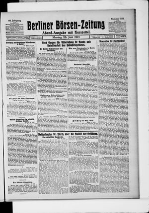 Berliner Börsen-Zeitung vom 20.06.1921