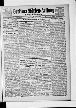 Berliner Börsen-Zeitung vom 21.06.1921