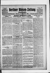 Berliner Börsen-Zeitung (27.09.1921)