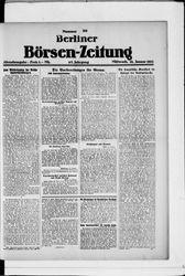 Berliner Börsen-Zeitung (18.01.1922)