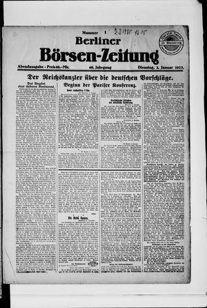 Berliner Börsen-Zeitung vom 02.01.1923