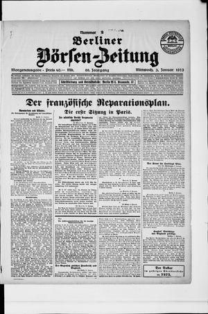 Berliner Börsen-Zeitung on Jan 3, 1923
