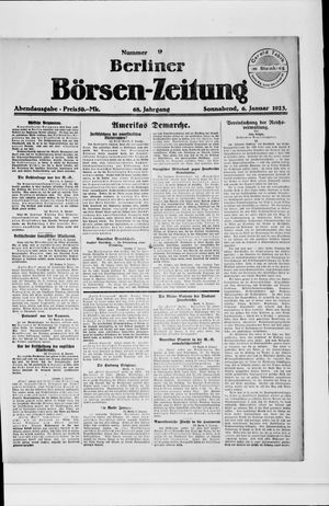 Berliner Börsen-Zeitung vom 06.01.1923