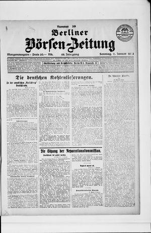 Berliner Börsen-Zeitung vom 07.01.1923