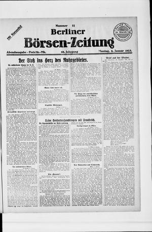 Berliner Börsen-Zeitung vom 08.01.1923
