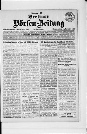 Berliner Börsen-Zeitung vom 11.01.1923