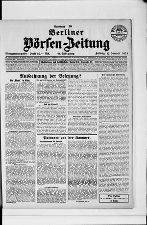 Berliner Börsen-Zeitung on Jan 12, 1923