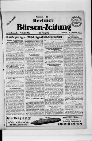 Berliner Börsen-Zeitung vom 19.01.1923