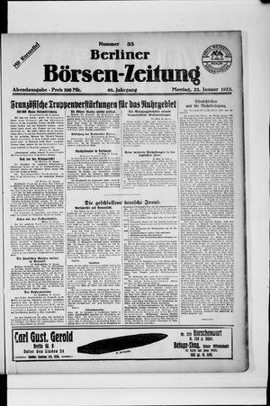 Berliner Börsen-Zeitung on Jan 22, 1923