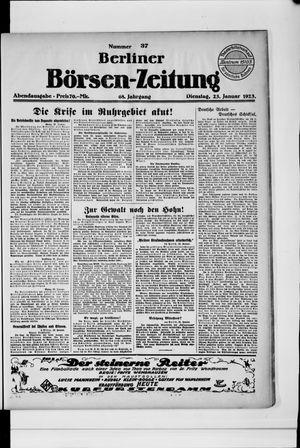Berliner Börsen-Zeitung vom 23.01.1923