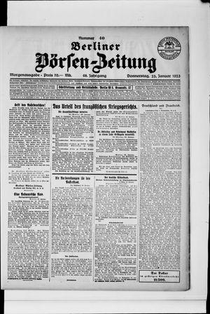 Berliner Börsen-Zeitung vom 25.01.1923