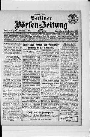 Berliner Börsen-Zeitung vom 27.01.1923