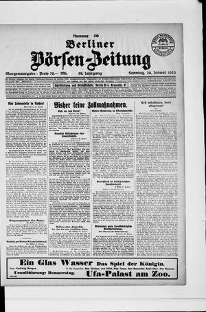 Berliner Börsen-Zeitung vom 28.01.1923