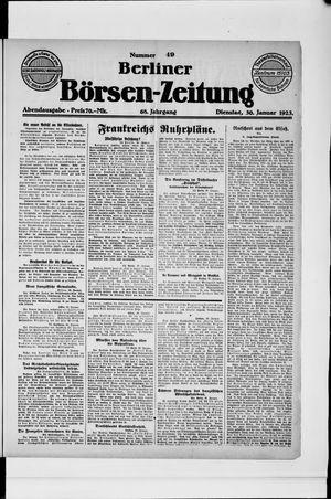 Berliner Börsen-Zeitung vom 30.01.1923