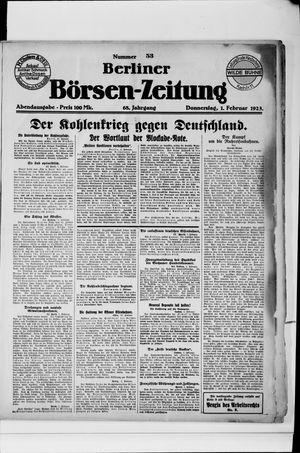Berliner Börsen-Zeitung on Feb 1, 1923