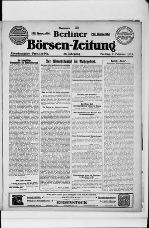 Berliner Börsen-Zeitung vom 02.02.1923