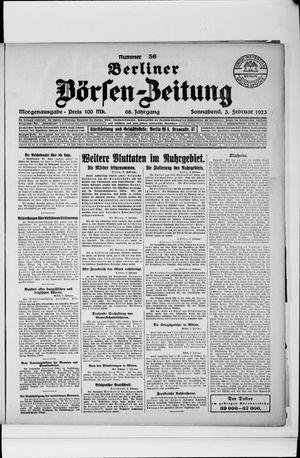Berliner Börsen-Zeitung on Feb 3, 1923