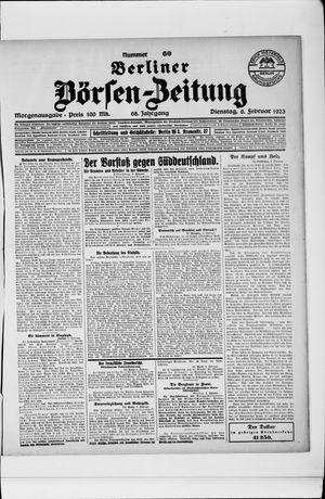 Berliner Börsen-Zeitung vom 06.02.1923