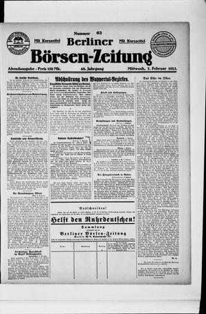 Berliner Börsen-Zeitung vom 07.02.1923