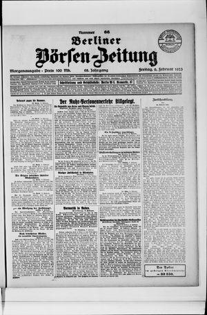 Berliner Börsen-Zeitung vom 09.02.1923