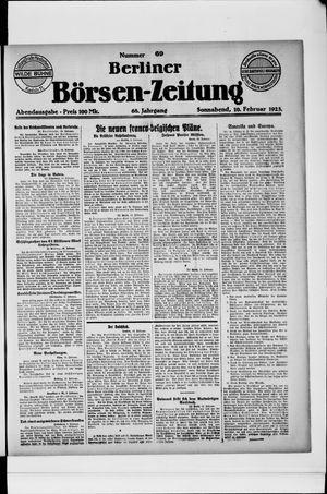 Berliner Börsen-Zeitung vom 10.02.1923
