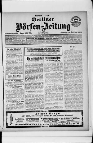 Berliner Börsen-Zeitung vom 11.02.1923