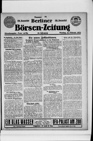 Berliner Börsen-Zeitung on Feb 12, 1923