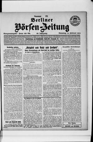 Berliner Börsen-Zeitung vom 13.02.1923