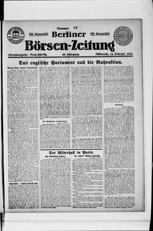 Berliner Börsen-Zeitung vom 14.02.1923