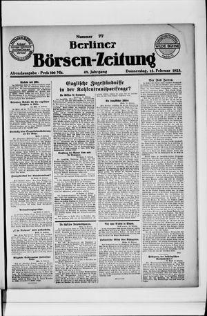 Berliner Börsen-Zeitung vom 15.02.1923