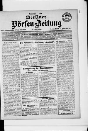 Berliner Börsen-Zeitung vom 17.02.1923