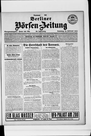 Berliner Börsen-Zeitung vom 18.02.1923