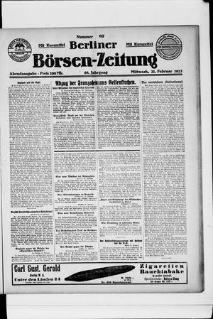 Berliner Börsen-Zeitung vom 21.02.1923