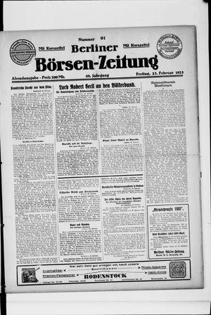 Berliner Börsen-Zeitung vom 23.02.1923