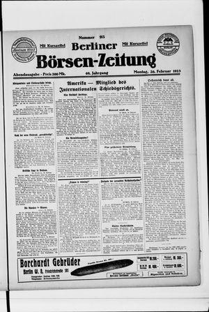 Berliner Börsen-Zeitung vom 26.02.1923