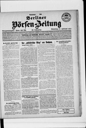 Berliner Börsen-Zeitung on Feb 27, 1923
