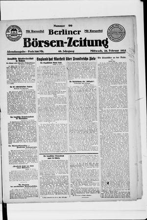 Berliner Börsen-Zeitung vom 28.02.1923
