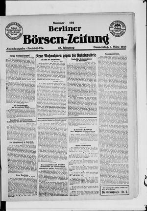 Berliner Börsen-Zeitung vom 01.03.1923