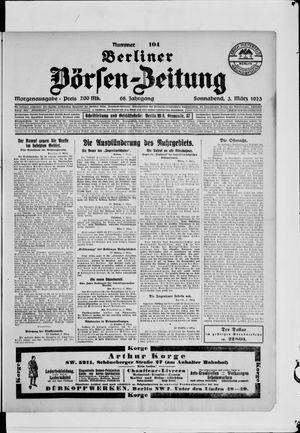 Berliner Börsen-Zeitung on Mar 3, 1923