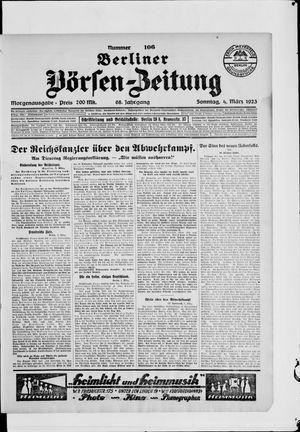 Berliner Börsen-Zeitung vom 04.03.1923