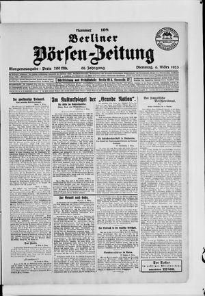 Berliner Börsen-Zeitung vom 06.03.1923