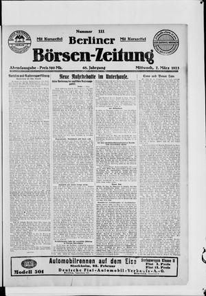 Berliner Börsen-Zeitung vom 07.03.1923