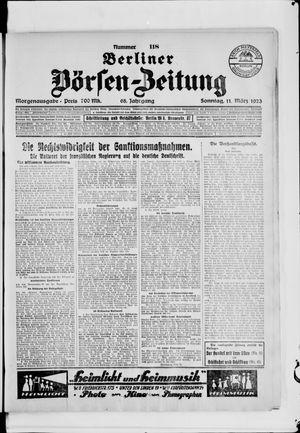 Berliner Börsen-Zeitung vom 11.03.1923
