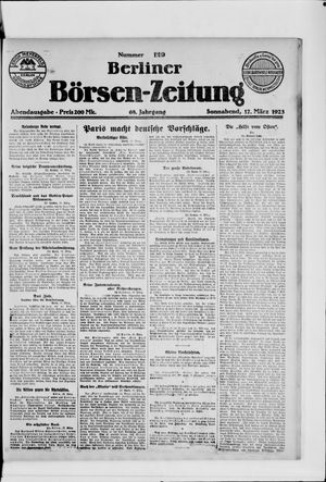 Berliner Börsen-Zeitung vom 17.03.1923